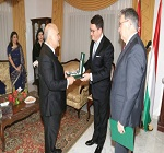 Prince Hassan receives medal from Hungary
