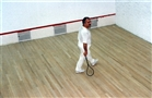 HRH Prince El Hassan playing Squash