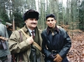 HRH Prince El Hassan with Prince Rashid during hunting trip