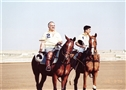 HRH Prince El Hassan with Prince Rashid during a Polo match