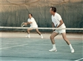 HRH Prince El Hassan playing Tennis